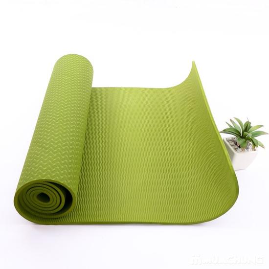 Thảm tập yoga TPE 2 lớp siêu bền kèm túi đựng