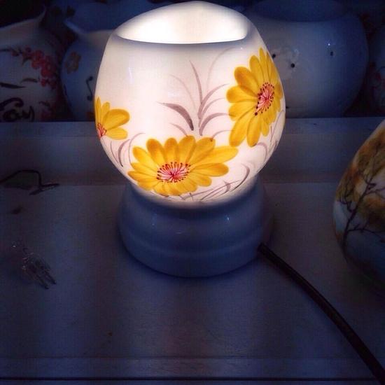 Đèn xông tinh dầu cắm điện sứ Bát Tràng cao cấp