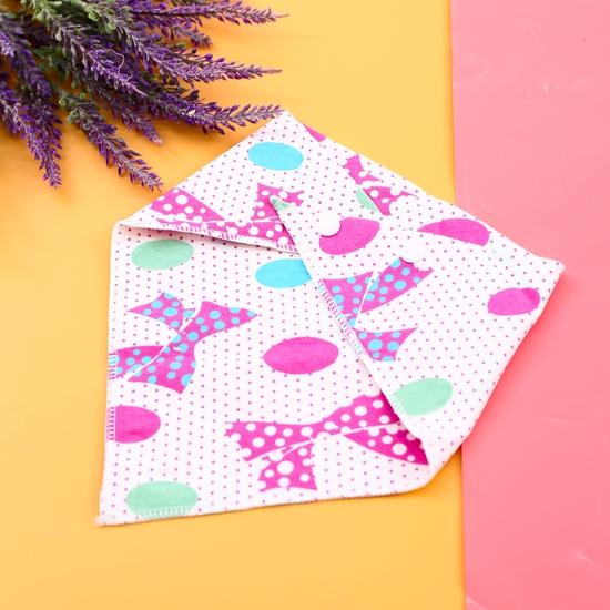 Combo 6 khăn yếm cotton 2 lớp họa tiết cho bé
