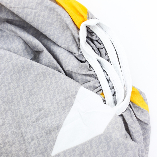 Bộ ga chun & gối cotton poly họa tiết 2.2x2m