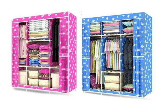 Tủ vải 3 buồng thanh lắp ráp bằng gỗ siêu chắc