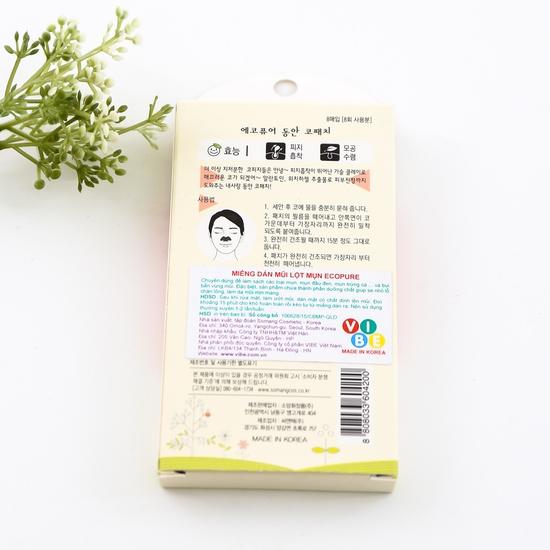 Combo 8 miếng dán mũi lột mụn Ecopure- NK Hàn Quốc