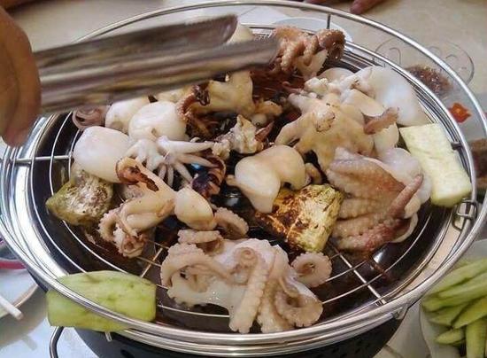 Bếp nướng tròn than hoa inox kèm vỉ nướng