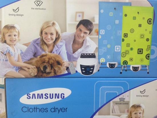 Tủ sấy quần áo Samsung tủ vuông 2 tầng sấy