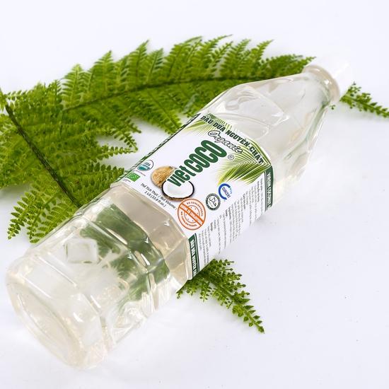 1 lít dầu dừa nguyên chất Organic tốt cho sức khỏe