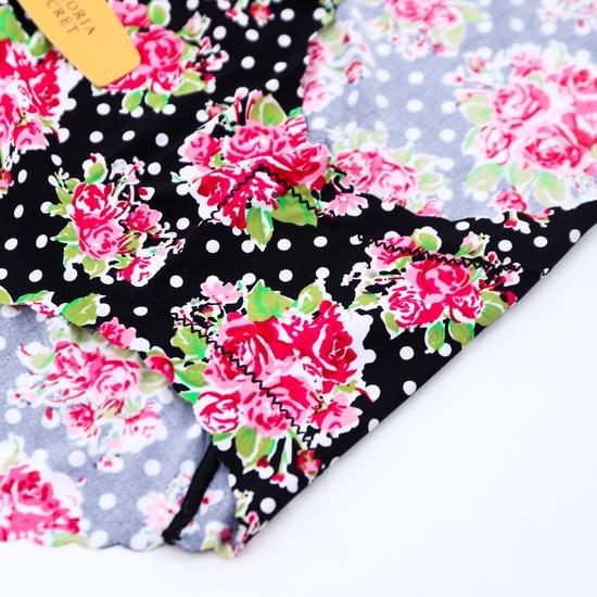 Combo 4 quần lót đúc xu họa tiết hoa