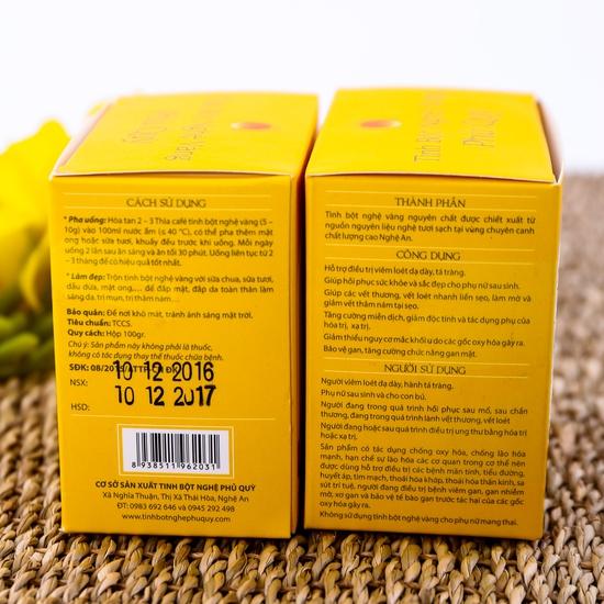 Combo 2 hộp tinh bột nghệ vàng Phủ Quỳ (100g/hộp)