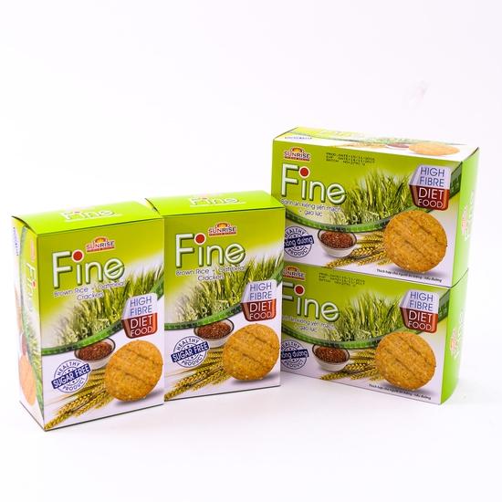 4 hộp bánh Fine ăn kiêng yếm mạch mè đen + gạo lứt