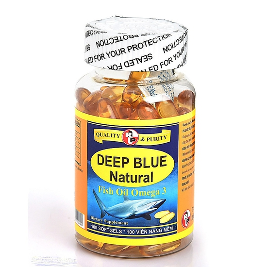 Dầu cá Omega 3 Deep Blue Natural (hộp 100 viên)