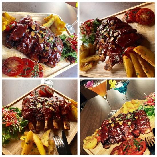 Set sườn nướng tảng sốt BBQ + đồ uống đẳng cấp 4* Authentic Panorama