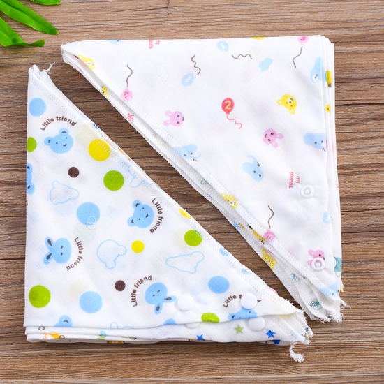 Combo 10 yếm khăn xô hoa chất cotton cho bé