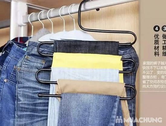 Combo 2 móc treo quần, áo đa năng loại 5 tầng