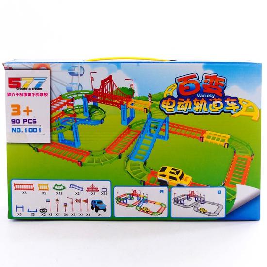 Bộ đồ chơi lắp ráp đường đua ô tô 90 chi tiết