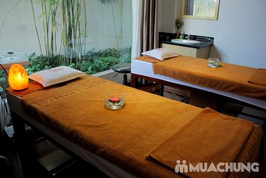 Xông hơi + massage body đá muối tại Sen spa