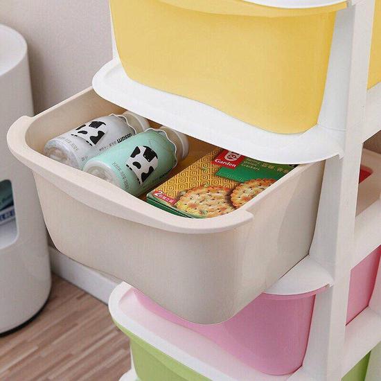 Tủ nhựa 5 tầng ngăn kéo đựng đồ đa năng có bánh xe