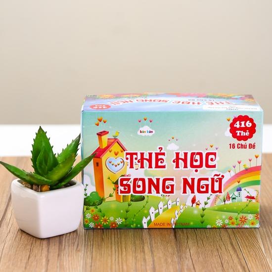 Bộ thẻ học song ngữ Anh- Việt 16 chủ đề và 416 thẻ
