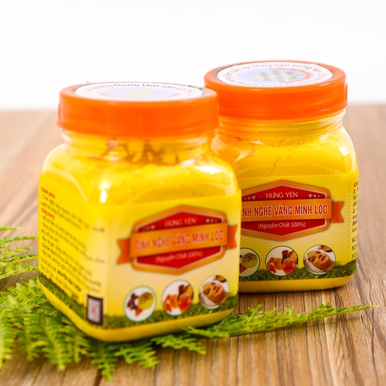 Combo 2 hộp tinh bột nghệ vàng Minh Lộc 100g