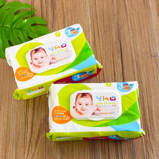 6 gói giấy ướt trẻ em 100 tờ YKO công nghệ Nhật