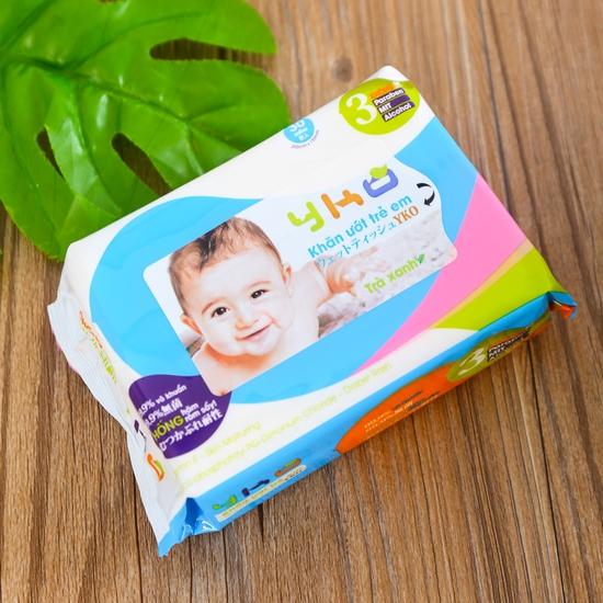 10 gói giấy ướt trẻ em 30 tờ YKO công nghệ Nhật