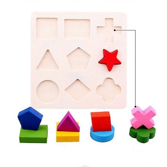 Combo 3 bảng gỗ ghép hình học - Phát triển tư duy