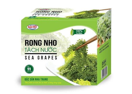 Rong nho tách nước đặc sản Nha Trang (Hộp 220g)