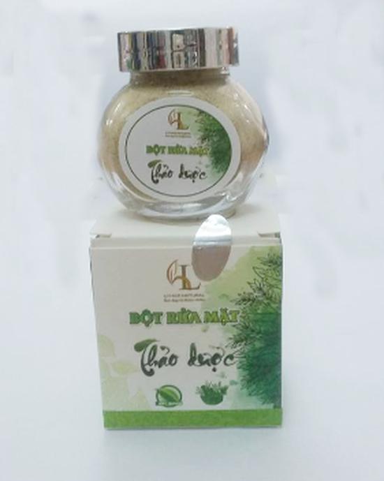 Bột rửa mặt thảo dược cho da mềm mịn