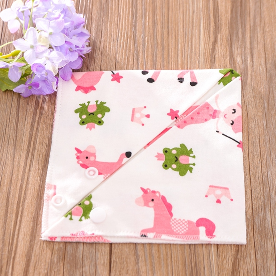 Set 5 khăn yếm tam giác 2 lớp chất cotton mềm mịn
