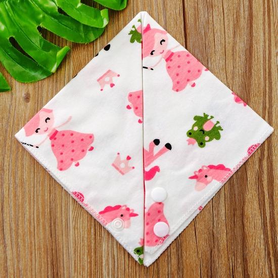 Set 10 khăn yếm cotton mềm mịn có cúc bấm