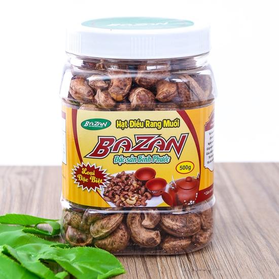 Hạt điều rang muối vỏ lụa Bazan (Hộp 500g)