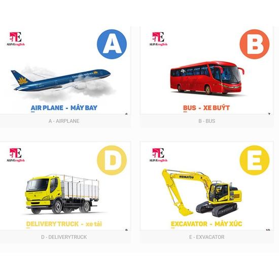 Sách 3D Alive English – Transportations 50 Phương tiện giao thông