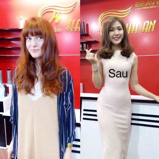 Làm tóc chất lượng nhất ưu đãi nhất, free giờ vàng tại Salon tóc Hà An