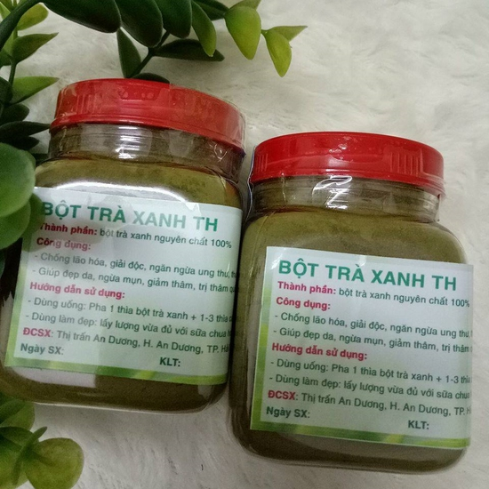 2 hộp bột trà xanh TH nhiều công dụng (100g/1 hộp)