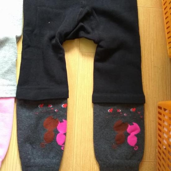 2 quần nối ống trẻ em ấm áp, dày dặn