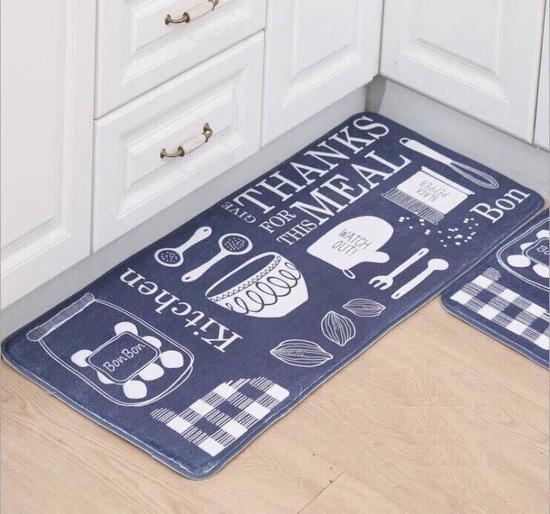 Bộ 2 thảm nhà bếp nhung cao cấp sang trọng