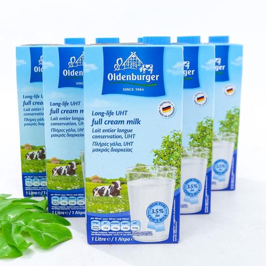 6 hộp sữa Oldenberger full kem 3.5% 1L NK Đức