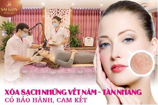 Trị sạch tận gốc nám, tàn nhang - Cam kết hiệu quả Sài Gòn Beauty & Spa