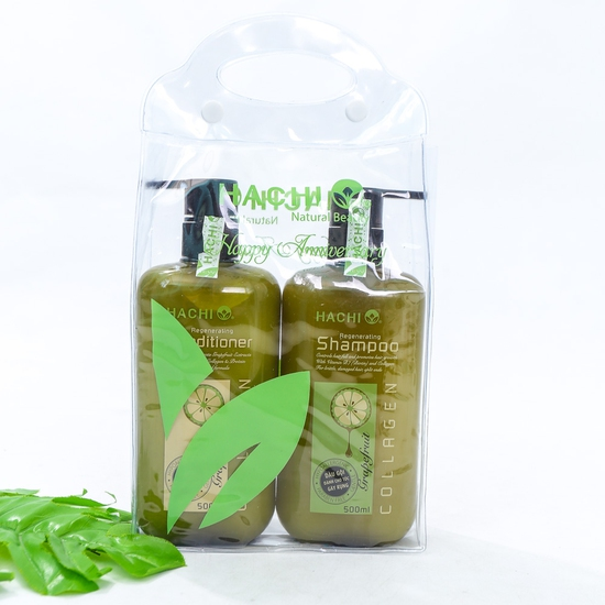 Cặp dầu gội & xả Hachi đặc trị cho các loại tóc
