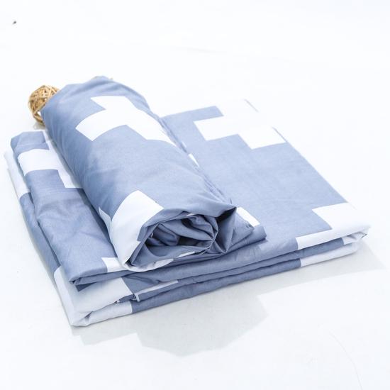 Bộ chăn, gối, ga chun cotton poly 1m8 x 2m