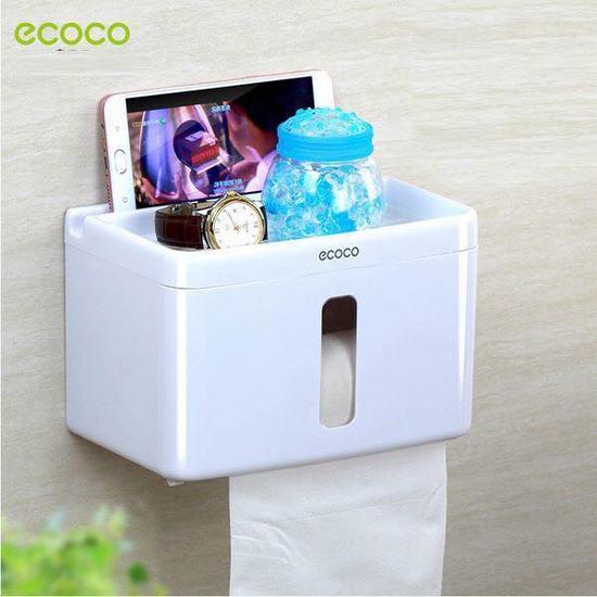 Giá treo giấy vệ sinh đa năng Ecoco tiện dụng