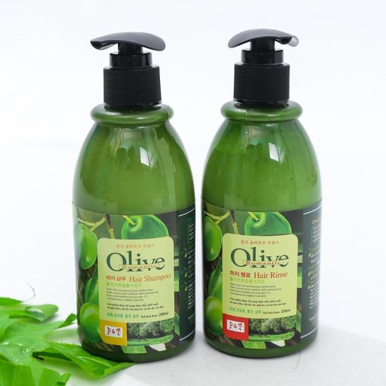 Bộ dầu gội & xả Olive Romantic mini 250ml/chai