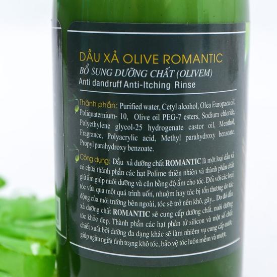 Bộ dầu gội & xả Olive Romantic 750ml/ chai