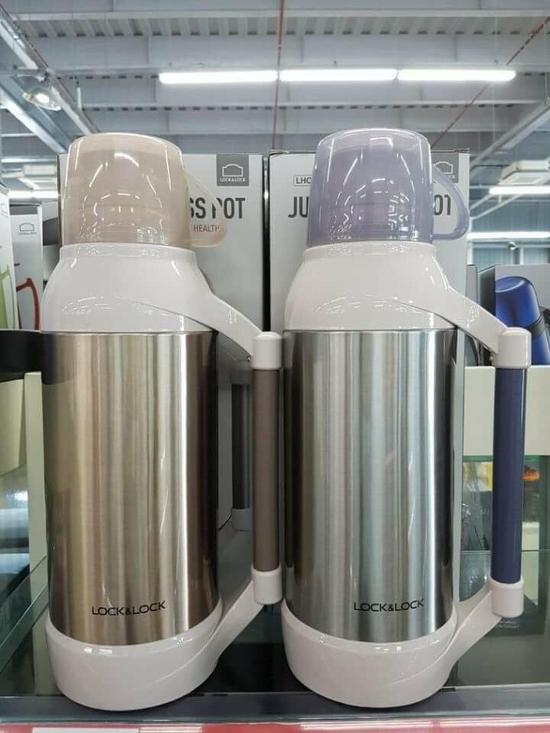 Bình thủy Jumbo Glass Pot Lock& Lock 3.2L