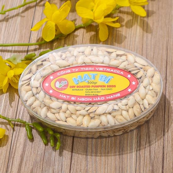 Combo 2 hộp hạt bí thơm bùi (300g/ hộp) - hàng VN