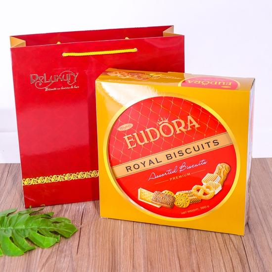 Bánh quy tổng hợp Eudora hộp thiếc 360g- Indonesia