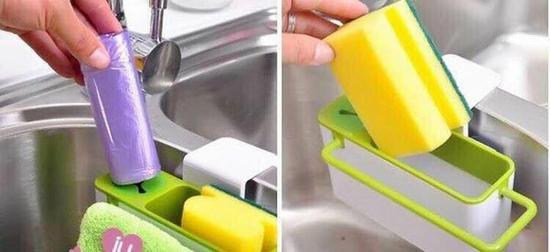 Kệ đựng mút rửa, vật dụng đa năng hút chân không