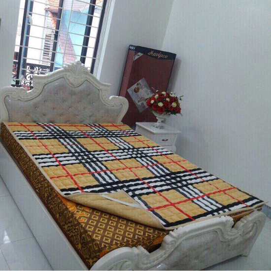Thảm nỉ trải giường họa tiết 1,5x1,9m