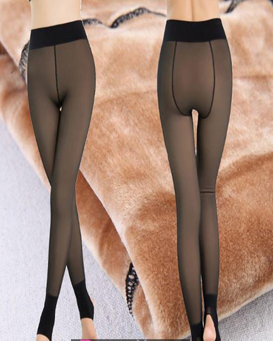 Quần tất lót lông 3D dẫm gót (6S) ấm áp ngày đông