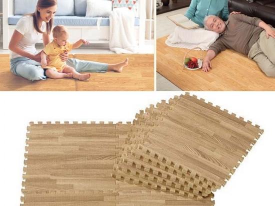 Thảm xốp vân gỗ Âu Lạc 40x40cm (9 miếng)