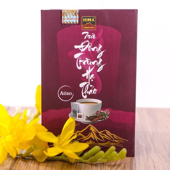 6 lon nước yến đông trùng hạ thảo + trà HIMA