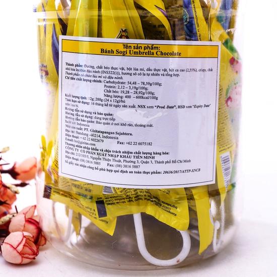 2 hộp bánh Sogi Chocolate nhập khẩu Indonesia
